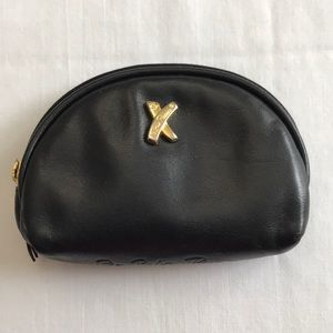 PALOMA PICASSO Black Leather Key Chain Coin Purse